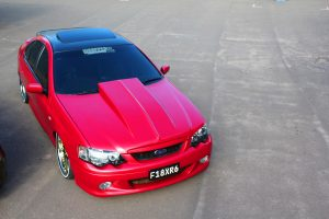 Hexis Car Wrap Garnet Red Glitter